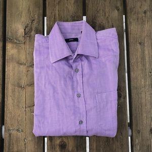 BOSS Hugo Boss Purple Dress Shirt Size 16 41